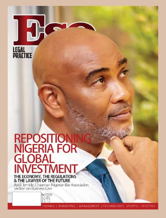 Our Lead Partner, Ayuli Jemide, shares insights on repositioning Nigeria for global investment in ESQLegal Magazine