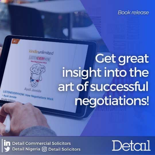 New book by our Lead Partner, Ayuli Jemide – Listen Every How: How Negotiations Work
