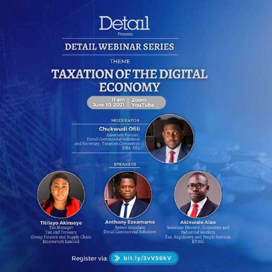 Detail hosting webinar series on Taxation of Digital Economy
