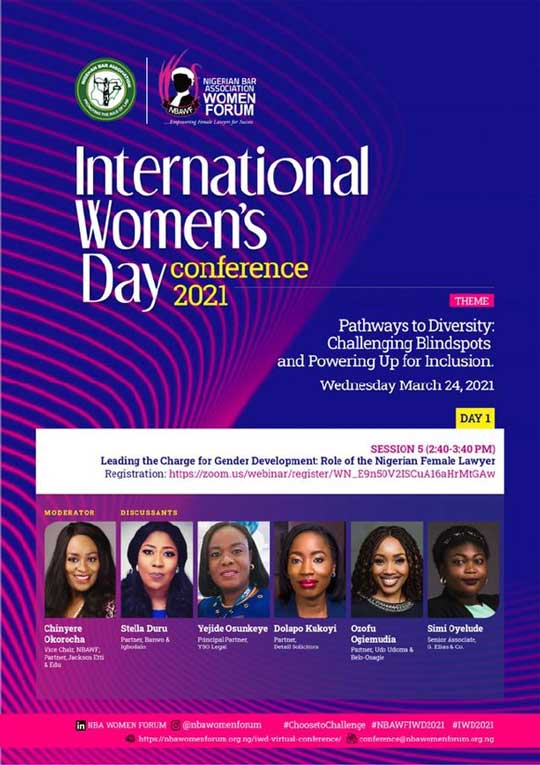 Our Partner, Dolapo Kukoyi, speaking at NBA Women Forum's International Women's Day Conference