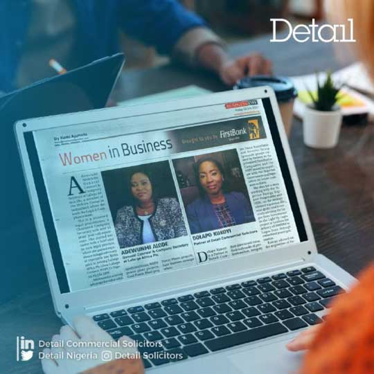 Our Partner, Dolapo Kukoyi, featured in Women in Business