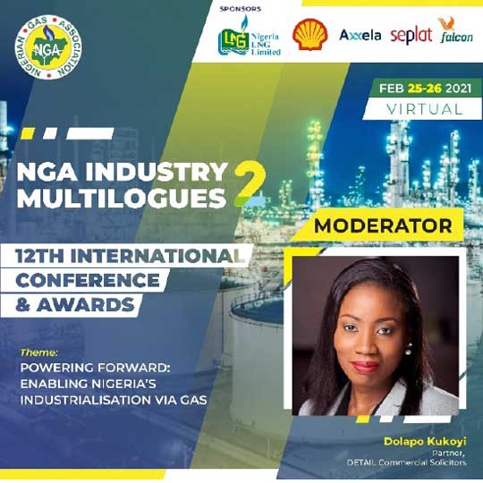 Our Partner, Dolapo Kukoyi, to moderate the Nigerian Gas Association's 12th International Conference