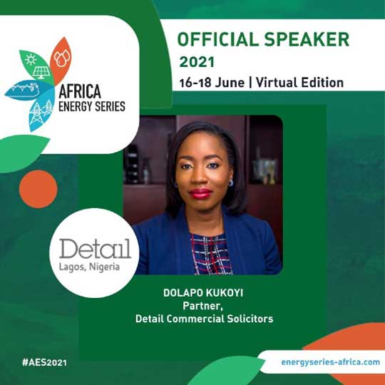 Our Partner, Dolapo Kukoyi, speaking at the 2021 Africa Energy Series